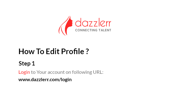 Dazzlerr : Edit Profile Step 1