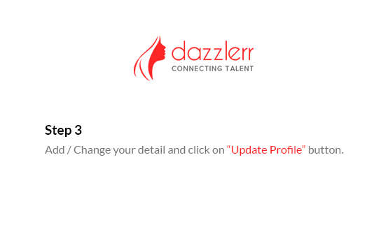 Dazzlerr : Edit Profile Step 5