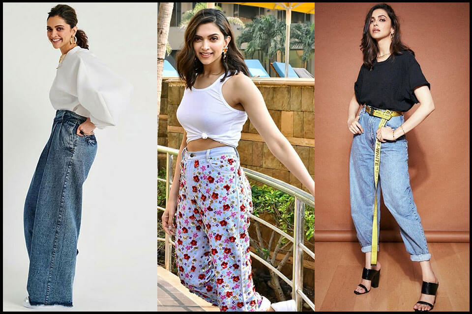 Dazzlerr - Deepika's Unconventional Denim Fits Best in The Spring Season