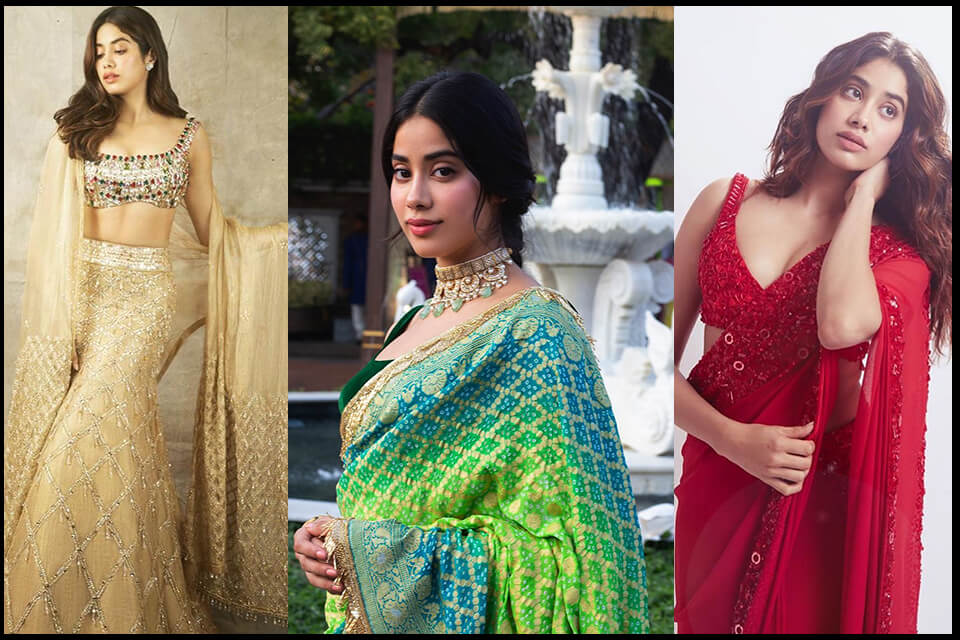 Dazzlerr - Janhvi Kapoor's Ethnic Outfits is a Perfect Choice for Summers Wedding